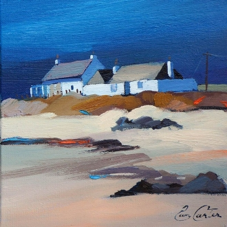 "Two Cottages,Tiree 8""x8"""