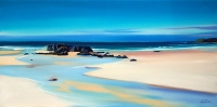 "Inlet & Outcrop, Tiree 20""x40"""
