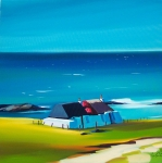 "Hebridean Cottages, Tiree 24""x24"""
