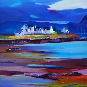 "Plockton Low Tide24""x24"""