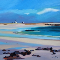 "Lowtide Crossapol,Tiree 16""x16"""