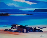 "Iona Outcrop To Mull 10""x12"" £110 Mounted"
