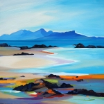 "Shore To The Small Isles 32""x32"""