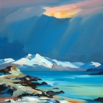 "Snow In The Sound, Skye 32""x32"""