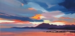 "Stormy Cuillin Sunset 8""x16"""