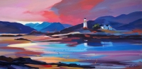 "Lighthouse at Lowtide 20""x40"""