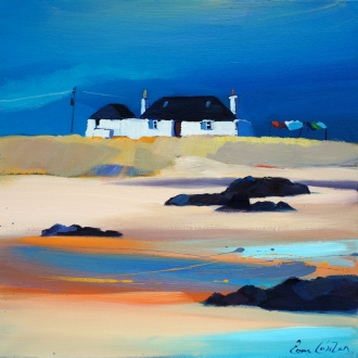 "Tiree Cottage In The Blue 16""x16"""