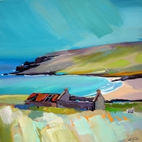 "The Keeper Of The Byre, Unst 24""x24"""