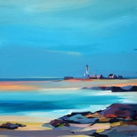 "Start Point Lighthouse, Orkney 28""x28"""