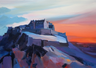 "Sundown Edinburgh Castle 16""x22"" £250"