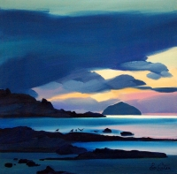 "Twilight, Ailsa Craig 24""x24"""