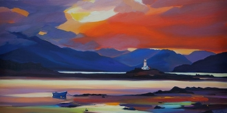 "Lighthouse Reflections 20""x40"""