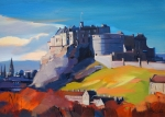 "Sunlight Edinburgh Castle 16""x22"" £250"