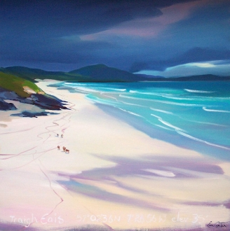 "East Beach Barra Star 20""x20"" £250 Mounted"