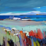 "Early Snow, Iona 20""x20"" £250 Mounted"