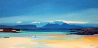 "Shoreline To Rum 16""x32"" £300 Mounted"