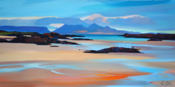 "Inlets and Orange Sands 16""x32"" £300 Mounted"