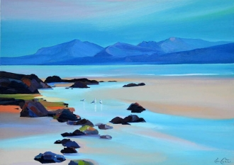 "Stream To Arran 16""x22"" £250 Mounted"