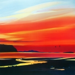 "Waterloo Sunset 20""x20"" £110"
