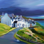 "Portnahaven, Islay 20""x20"" £250 Mounted"