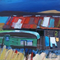 "Berthed By The Shed 8""x8"""