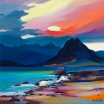 "Mood of the Cuillin 10""x10"" £110 Mounted"
