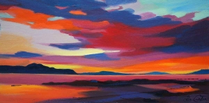 "Sunset, Sound Of Raasay 8""x16"""