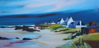 "Seaview Cluster, Tiree 20""x40"""