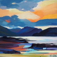 "Shored in Sleat 20""x20"""