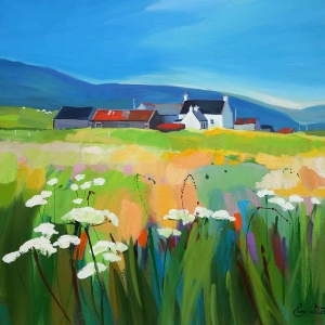 "Farm Cluster & Machair 32""x32"""