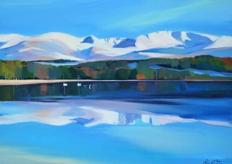"Cairngorms 16""x22"" £250 Mounted"