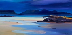 "Storm Colours Rum 16""x32"" £300 Mounted"