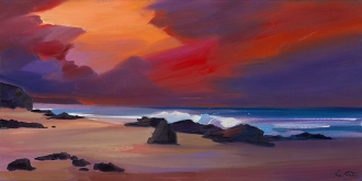 "Sunset Surge 16""x32"" £300 Mounted"