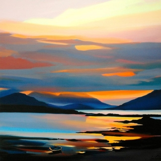 "Red On The Cuillin 15.5""x15.5"" £110"